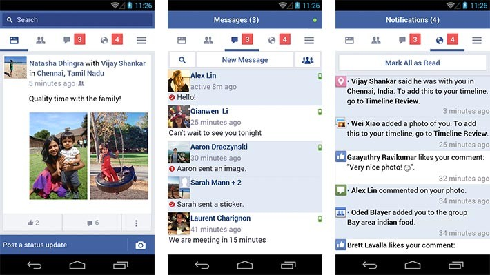 Facebook Lite notifications