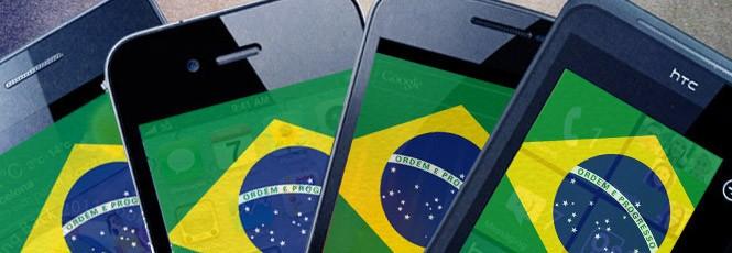 Mercado de Smartphone do Brasil cresce a 100 Sph/m