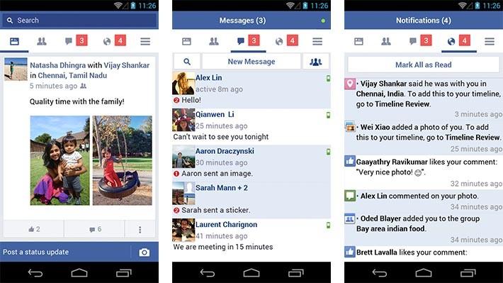 Facebook Lite notifications