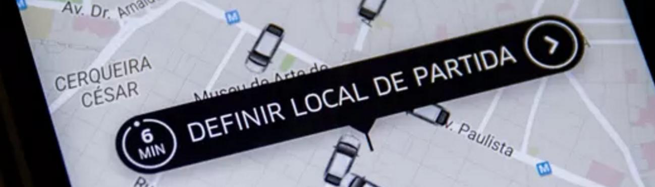 uber marcando local