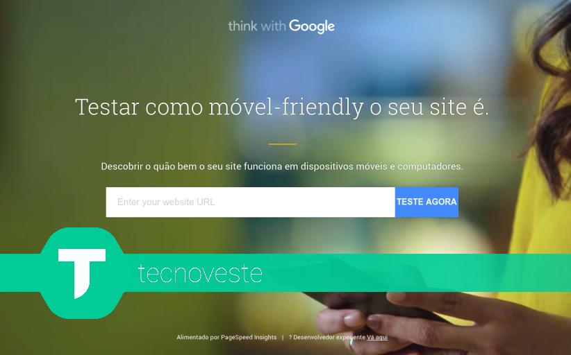 Teste o desempenho do seu site! TestMySite da Google.